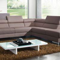Contemporary Living Room Furniture Grey Schillig Sofa Glass Top