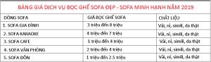 BANG GIA BOC SOFA
