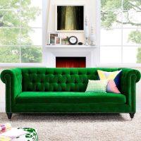 sofa mau xanh